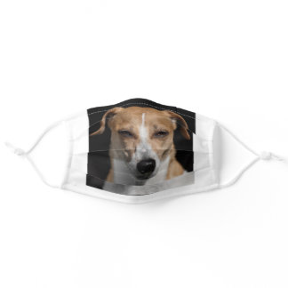 I love my Jack Russell Dog Animal Cute Adorable Adult Cloth Face Mask