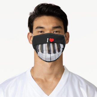 I Love Piano, popular design Adult Cloth Face Mask