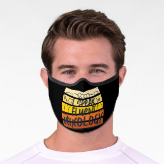 I Speak Fluent Mixology Funny Bartender Mixologist Premium Face Mask