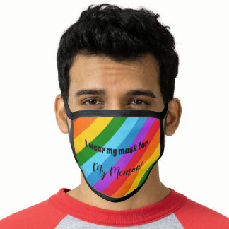 I wear my mask for rainbow pride