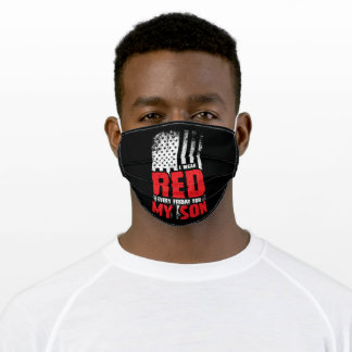 I Wear Red Every Friday For My Son Adult Cloth Face Mask