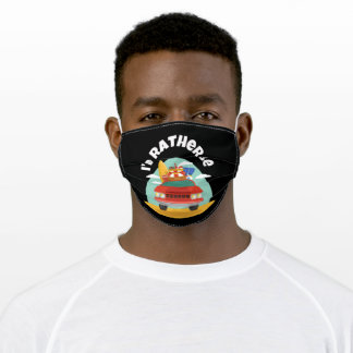 I'd Rather Be Car At The Beach Adult Cloth Face Mask