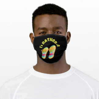 I'd Rather Be Flip Flops At The Beach Adult Cloth Face Mask