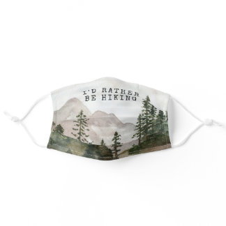 I'd Rather Be Hiking Protective Mask