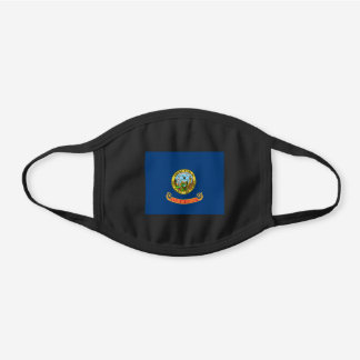 Idaho the Gem State Flag by Emma Edwards Green Black Cotton Face Mask