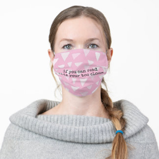if you can read this pink adult cloth face mask