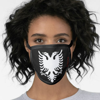 Illyrian Ink Face Mask - White Albanian Eagle