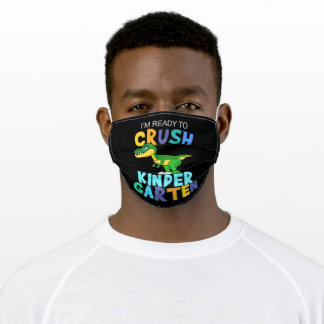 I'm ready to crush kindergarten adult cloth face mask