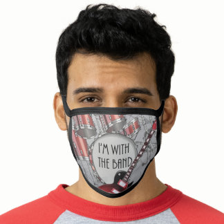 I'm With the Band Print all Over Face Mask