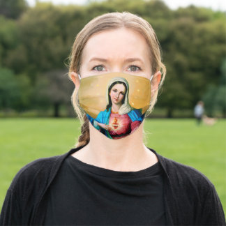 Immaculate Heart Of Mary Adult Cloth Face Mask
