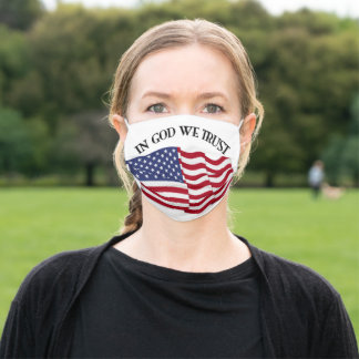 In God We Trust With Flag Adult Cloth Face Mask