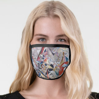 In Grey Kandinsky Modern Abstract Artwork Face Mask