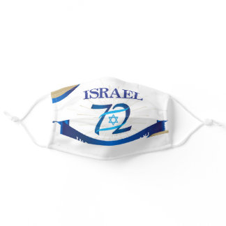 Independence Day Israel Holiday Flag pattern Adult Cloth Face Mask