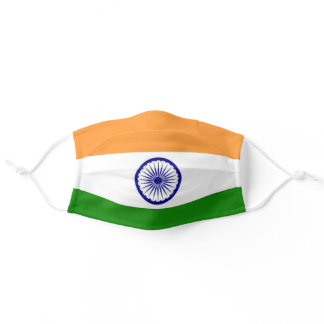 India Flag Patriotic Adult Cloth Face Mask
