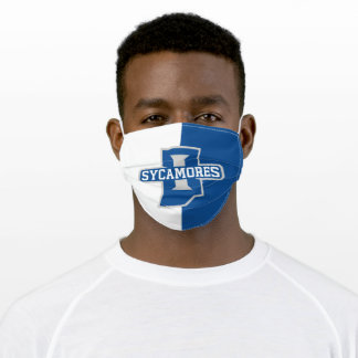 Indiana State University Color Block Adult Cloth Face Mask