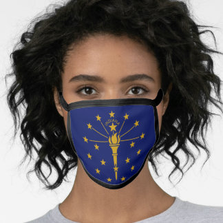 Indianan flag, American state flag Face Mask