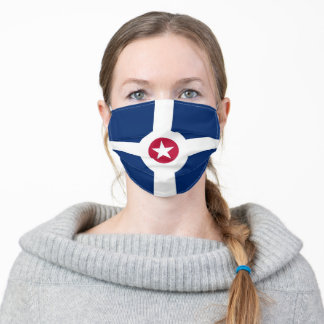 indianapolis city flag country flag symbol nation adult cloth face mask