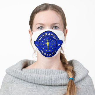Indianapolis Indiana Adult Cloth Face Mask