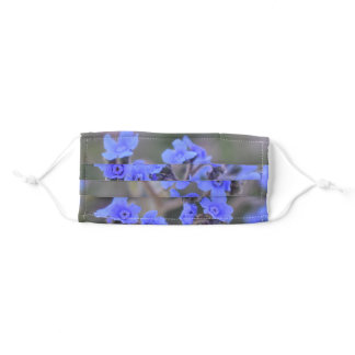 Indigo Flower Adult Face Mask