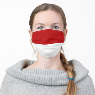 indonesia country flag symbol nation adult cloth face mask