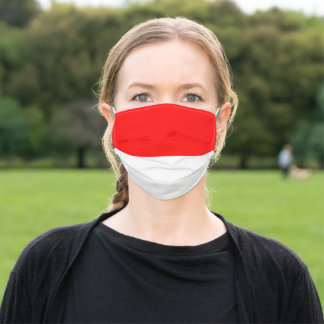 Indonesian Flag Adult Cloth Face Mask