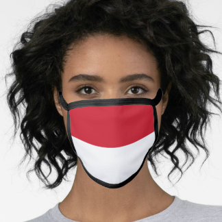 Indonesian flag face mask