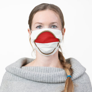 Indonesian Flag Seal Adult Cloth Face Mask