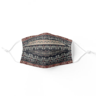 Indonesian Ikat Textile Weaving Bali Ethnic Tribal Adult Cloth Face Mask