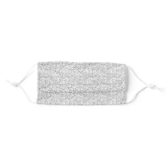 Ink dot scales adult cloth face mask