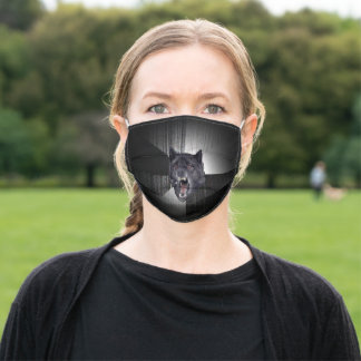 Insanity Wolf Meme Funny Memes Black Wolf Adult Cloth Face Mask