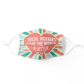 Inspirational Social Worker Adult Cloth Face Mask