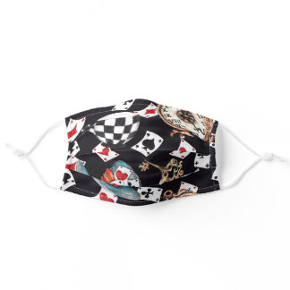 Inspired By Alice In Wonderland Pattern Adult Cloth Face Mask