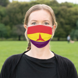 International Brigades Flag (Spanish Civil War) Adult Cloth Face Mask