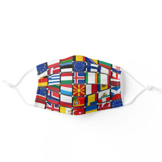 International Flag Collection, world flags Adult Cloth Face Mask