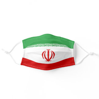 Iranian flag adult cloth face mask