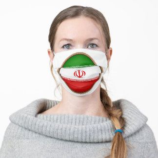 Iranian Flag Seal Adult Cloth Face Mask