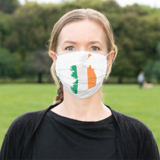 Ireland Map and Flag printed on Face Mask