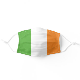 Ireland ROI Tri Colored Flag Adult Cloth Face Mask