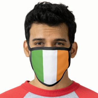Ireland ROI Tri Colored Flag Face Mask
