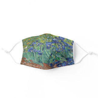 Irises by Van Gogh Art Painting Adult Cloth Face Mask