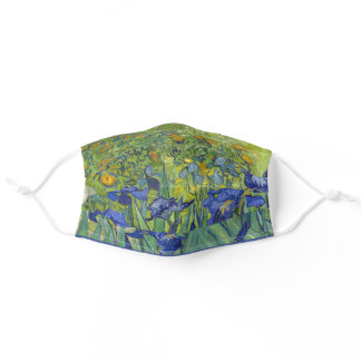 Irises by Vincent Van Gogh Adult Cloth Face Mask