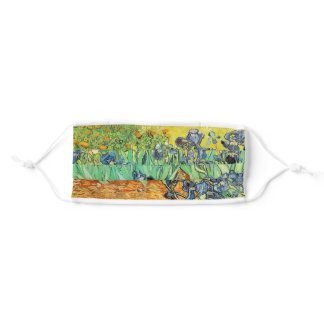 Irises by Vincent VanGogh Adult Cloth Face Mask