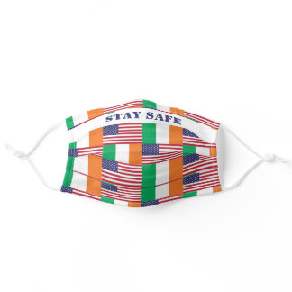 IRISH AMERICAN FLAGS | Stay Safe Customizable Adult Cloth Face Mask