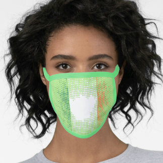 Irish Flag in Abstract Dot Pattern on LIGHT GREEN Face Mask