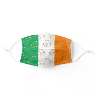 Irish Flag Shamrock Clover Symbol Ireland Adult Cloth Face Mask