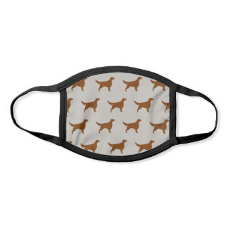 Irish Setter Dog Breed Silhouettes Pattern Face Mask