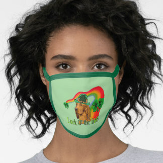 Irish Setter St. Patricks Day Face Mask