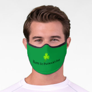 Irish Shamrock Clover St Patrick's Day Premium Face Mask