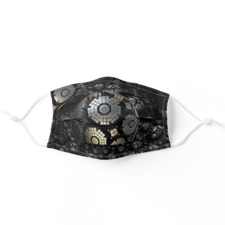 Iron Planets - Steel - Fantasy Adult Cloth Face Mask