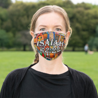 Isaiah 22:22 Scripture Doors Collage Religious Adult Cloth Face Mask